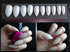 Full Stiletto False Nails to Paint 48/120/600 - Nat/clear/white - *Pink Candy*