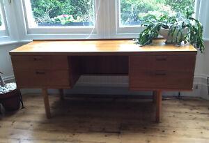 Mid Century Dressing Table/Desk Solid Wood Danish Style Vintage Retro Rare