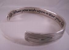 Disney Couture Silver Ox Faux Wood Texture Bracelet w Accent Stone