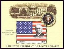 Liberia 29th President Of The US - Warren G. Harding S/S
