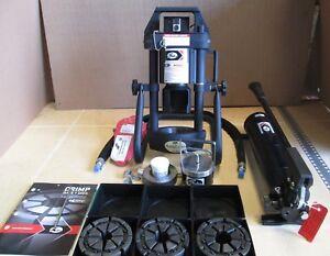 New Gates MobileCrimp 4-20 Adjustable Hydraulic Hose Crimper w/hand pump 3 dies