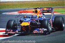 "Mark Webber original signed 18"" x 12"" (45cm x 30cm) photo with photo proof & COA"