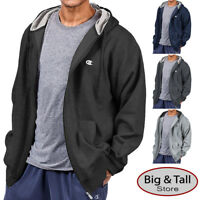 Big & Tall Men's Champion Full Zip Fleece Hoodie 3XL - 10XL 2XLT - 4XLT