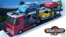 TEAMSTERS DIECAST Car Transporter Children Boy Toy Red Vehicle Birthday Gift New