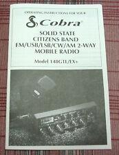 Cobra 148GTL-EX+ Export Radio Owners Manual