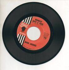 HANK JACOBS 45 RPM Record MONKEY HIPS & RICE / SO FAR AWAY Northern Soul VG