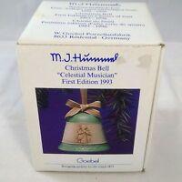 "Goebel MJ Hummel First Edition 1993 Christmas Bell ""Celestial Musician"" First Ed"