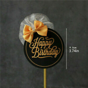 Happy Birthday Cake Topper For Wedding Birthday Party Cake Decoration BabyShower