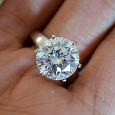5.20 + Carat Round Diamond Engagement Ring - K Color , VS2 Clarity- GIA Cert