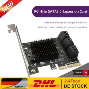 6 Ports SATA III PCI E Express 3.0 X4 Controller Erweiterungskartenadapter 6Gbps
