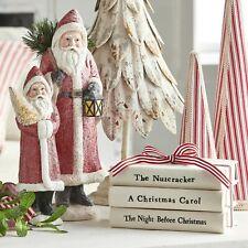 """Raz Imports 8"""" Stacked Christmas Books Decoration"""