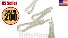 NiftyPlaza 200 Clear Plastic Alligator Clips for Shirts Folding Ties Socks Pants