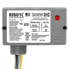 (NEW IN BOX) FUNCTIONAL DEVICES INC / RIB Wired Relay,10-30VAC/DC, 120VAC,10A,SP