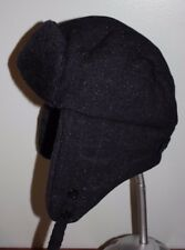 J CREW Trapper Hat E5223 GRAY/Navy Sz L-XL