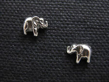 925 Sterling Silver ELEPHANT Stud/Post Earrings - FREE SHIPPING + Gift Box!