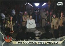 Star Wars Rogue One Series 2 Gray Base Card #41 The Council Assembled