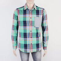 Bench Mens Size M Green Check Long Sleeve Shirt