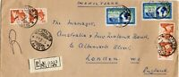 1964 Italy Cover to Registered Cover to Australia and new Zealand Bank London