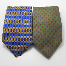 2 Richel  Men's  necktie 100% Silk Made in Spain