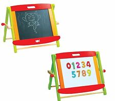 Lelin Wooden Chalk Drawing Easel Board For Childrens Kids 2 In 1 Black & White