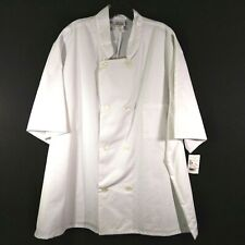 Five Star Fundamentals Chef Coat 8 Pearl Button Short Sleeve White 2Xl New