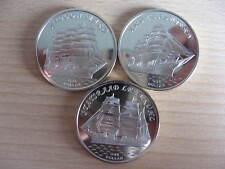 GILBERT ISLAND 2018 set of 3 coins Nipoon Maru KruzenShtern Statsraad #B4