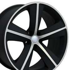 "20"" Wheels For Dodge Charger SRT8 Magnum Challenger Chrysler 300 Black Rims Set"