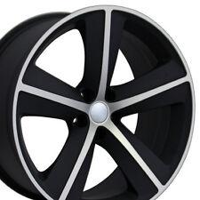 """20"""" Wheels For Dodge Charger SRT8 Magnum Challenger Chrysler 300 Black Rims Set"""