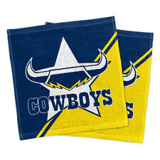 North QLD Queensland Cowboys NRL Face Washer set of 2 Towel Washcloth Flannel