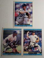 1992 Donruss Yankees Auto Lot Autograph Card Signed Hensley Meulens Steve Farr