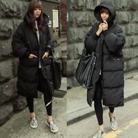 Women's Loose Cotton Down Outwear Parka Coat Snow Jacket Hooded Warm Winter Long