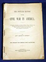 1895 The Popular History of the Civil War in America Capt. George B Herbert AsIs