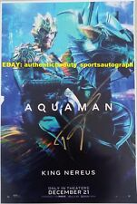 Aquaman Signed Dolph Lundgren Drago King Nereus Superhero Movie Poster 12x18 Rp