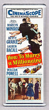 HOW TO MARRY A MILLIONAIRE movie poster LARGE FRIDGE MAGNET - MARILYN MONROE