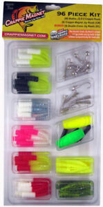 Leland Crappie Magnet Kit & Grubs Jig Heads Best of the Best 96 Piece USA MADE
