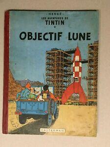 TINTIN - OBJECTIF LUNE - E.O. B8 1953 - BE++