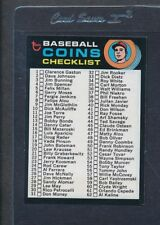 1971 Topps #161 Baseball Coins Checklist NM *8947