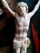 Cristo crocifisso antico 18 sec. 1700 no croce crucifix antique Beinschnitzerei