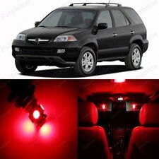 15 x Ultra Red LED Interior Light Package For Acura MDX 2001 - 2006 US Seller