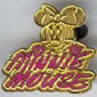 Disney Pin 30240 DLR Cast Member Lanyard Series - Signatures Minnie Mouse Gold