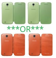 2pc Genuine Samsung Galaxy S4 Flip Cover Smart Phone Case Green Orange
