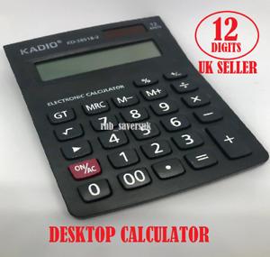 KADIO 12 Digits Electronic Display Desktop Calculator Medium size