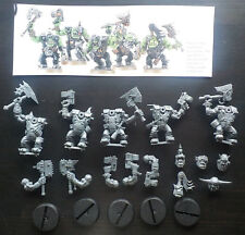 Warhammer 40k Space Ork Nobz x5 - Games Workshop - NEW