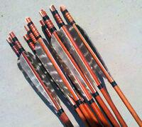 X6 Archery Wood Arrows FOR COMPOUND OR RECURVE LONGBOW TARGET ARCHERY 80cm