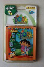 9 pochettes scellées de DORA L'Exploratrice . année 2004 . 45 stickers