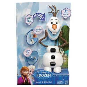 Disney Frozen Stretch & Slide Olaf 10 + sounds & phrases talking figure NEW!