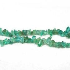 Long Strand of 125 Turquoise APATITE 4-10mm Chip Beads CB27243