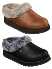 SKECHERS Women's Cute, Cozy, Comfy Leather Look Clogs, Medium and Wide