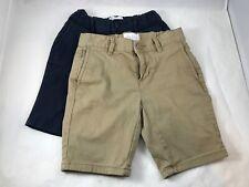 Girls - Lot of 2 - Beige / Navy Blue - School Uniform Shorts - Size 6