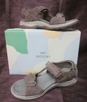 Earth Origins Women's Higgins Holland Sedona Brown Suede Sandals Sz 8 M NEW